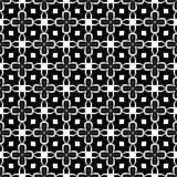 Fundo preto & branco geométrico floral sem emenda decorativo do teste padrão Fotos de Stock Royalty Free