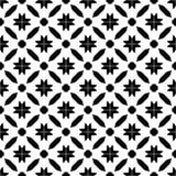 Fundo preto & branco geométrico floral sem emenda decorativo do teste padrão Foto de Stock