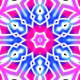 Fundo preto com cores azuis e cor-de-rosa da luz - ilustração royalty free