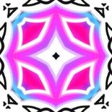 Fundo preto com cores azuis e cor-de-rosa da luz - ilustração do vetor
