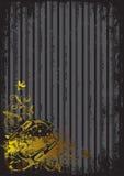Fundo preto com injetores dourados ilustração royalty free