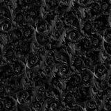 Fundo preto com teste padrão floral rendição 3d Imagens de Stock