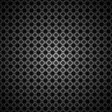Fundo preto da textura do teste padrão do círculo Fotografia de Stock