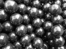 Fundo preto das esferas imagens de stock