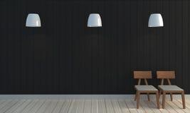 Fundo preto de madeira da parede da cor Fotos de Stock
