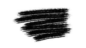 Fundo preto de pintura do Grunge da escova para títulos ou o outro seu texto com canal alfa Vintage retro da arte da aquarela video estoque