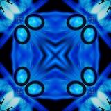 Fundo preto e azul 4 do teste padrão da telha Foto de Stock Royalty Free