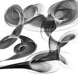 Fundo preto e branco abstrato ilustração stock