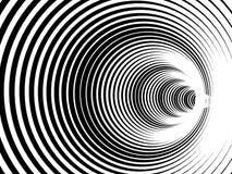 Fundo preto e branco abstrato com tunnell espiral illustr ilustração stock