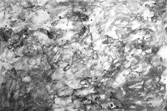 Fundo preto e branco abstrato da aquarela Imagens de Stock