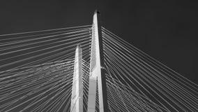 Fundo preto e branco abstrato da ponte foto de stock royalty free