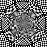 fundo preto e branco abstrato da xadrez 3D com Imagens de Stock Royalty Free