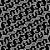Fundo preto e branco abstrato do teste padrão do hexágono ilustração do vetor
