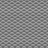 Fundo preto e branco abstrato do teste padrão do triângulo ilustração stock