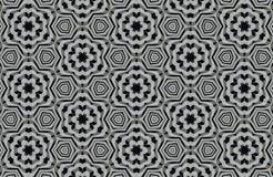 fundo preto e branco abstrato dos testes padrões Imagens de Stock