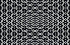 fundo preto e branco abstrato dos testes padrões Foto de Stock Royalty Free