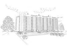 Fundo preto e branco arquitectónico ilustração royalty free
