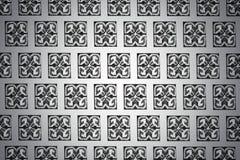 Fundo preto e branco com testes padrões Imagens de Stock Royalty Free