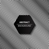Fundo preto e branco da curva abstrata, teste padrão 3d moderno, Imagem de Stock Royalty Free