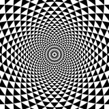 Fundo preto e branco da espiral abstrata do círculo Fotos de Stock Royalty Free