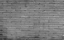 Fundo preto e branco da parede de tijolo Fotos de Stock