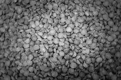 Fundo preto e branco da textura de Bokeh das ervilhas imagem de stock