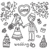 Fundo preto e branco do casamento Fotografia de Stock Royalty Free