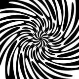 Fundo preto e branco do redemoinho Imagens de Stock