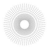 Fundo preto e branco do starburst do vetor Imagem de Stock Royalty Free