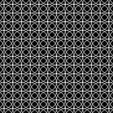 Fundo preto e branco do teste padrão do círculo ilustração royalty free