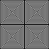 Fundo preto e branco do teste padrão geométrico da camada ilustração stock