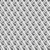 Fundo preto e branco do teste padrão listrado da forma da seta Fotografia de Stock