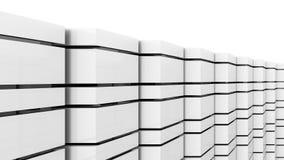 Fundo preto e branco futurista Imagens de Stock