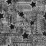 Fundo preto e branco geométrico sem emenda Imagem de Stock Royalty Free