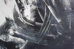 Fundo preto e branco pintado mão ilustração stock