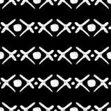 Fundo preto e branco sem emenda étnico Ilustração tribal Foto de Stock Royalty Free