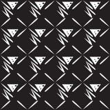 Fundo preto e branco sem emenda Imagem de Stock Royalty Free