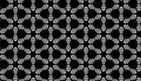 Fundo preto e branco sem emenda do teste padrão de flor do vetor imagens de stock