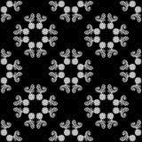Fundo preto e branco sem emenda do teste padrão de flor do vetor fotos de stock royalty free