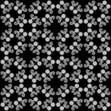 Fundo preto e branco sem emenda do teste padrão de flor do vetor imagem de stock royalty free