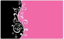 Fundo preto e cor-de-rosa Imagens de Stock Royalty Free