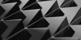 Fundo preto triângulo-dado forma 3D abstrato Imagem de Stock Royalty Free