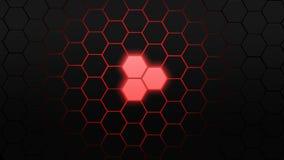 Fundo preto & vermelho do polígono Fotografia de Stock Royalty Free