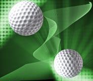 Fundo projetado do golfe Fotos de Stock Royalty Free