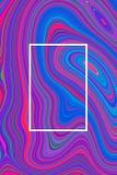 Fundo psicadélico azul do cartaz do sumário e projeto hipnótico, papel de parede foto de stock
