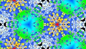 Fundo quadrado 12 do teste padrão da telha da cor Fotos de Stock Royalty Free