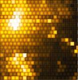 Fundo quadrado abstrato do ouro de mosaico ilustração do vetor