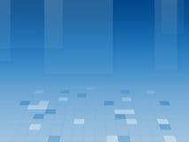 Fundo quadrado azul abstrato Imagem de Stock