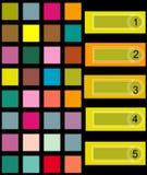 Fundo quadrado colorido Imagem de Stock