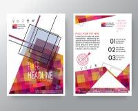 Fundo quadrado colorido moderno abstrato para o molde da disposição de projeto do inseto do folheto do cartaz no tamanho de A 4 ilustração do vetor